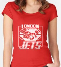 London Jets, white - Red Dwarf Women's Fitted Scoop T-Shirt