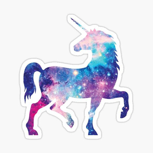Cosmic watercolor unicorn Sticker