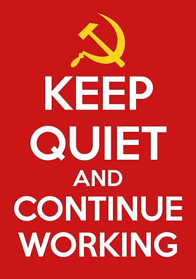 Quot Keep Quiet And Continue Working Quot Poster By Mryum Redbubble