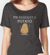 I'm A Potato Funny Comic Graphic Food Women's Relaxed Fit T-Shirt