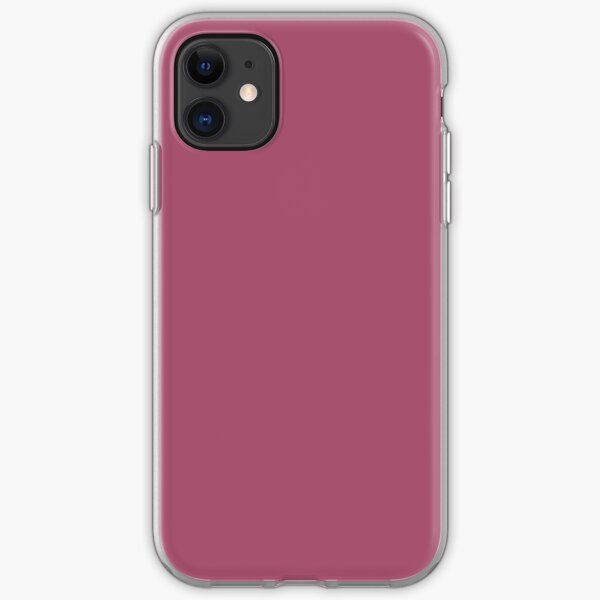 China Rose Solid Color iPhone Soft Case