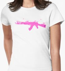 Ak47 Love & Peace (girl) Women's Fitted T-Shirt