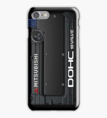 4g63 MITSUBISHI Valve Cover -iPhone -Black/White +Spark Cover iPhone Case/Skin