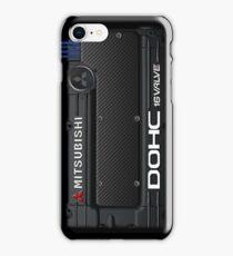 4g63 MITSUBISHI Valve Cover -iPhone -Black/White +Spark Cover iPhone Case/Skin