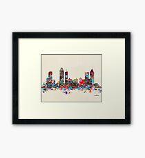 Atlanta city watercolor Framed Print