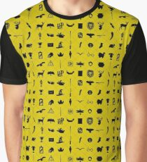 Yellow and Black Graphic T-Shirt