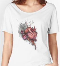 Three Hearts Shirt (for light shirts) Women's Relaxed Fit T-Shirt