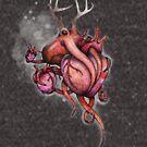 Three Hearts Shirt (for dark shirts) by Kaitlin Beckett