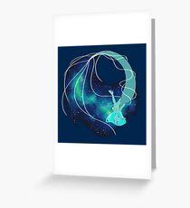 Blue Galaxy Mermaid Greeting Card