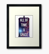 "Doctor Who TARDIS - ""All of time and space"" Framed Print"