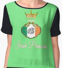 0% Irish Princess St Paddy's Party Design Chiffon Top