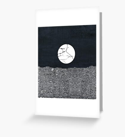 Crack in the Moon Greeting Card