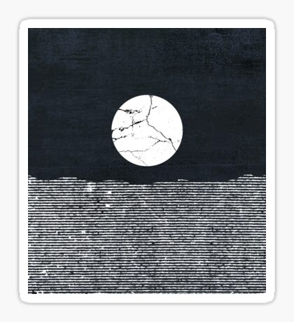 Crack in the Moon Sticker