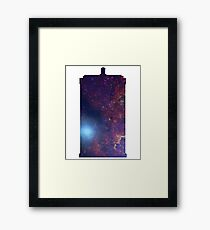 Doctor Who TARDIS - Galaxy Background Framed Print