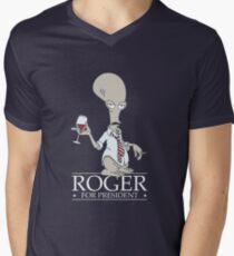 Roger for President Men's V-Neck T-Shirt