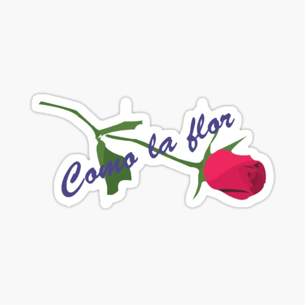 "Etiqueta engomada rosa Selena ""Como la flor"" Pegatina"