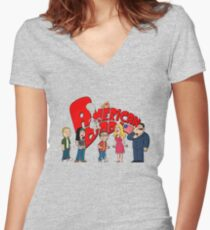 The American Family Women's Fitted V-Neck T-Shirt