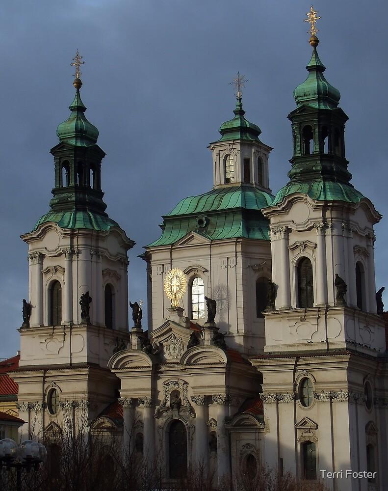 Church in Prague by Terri Foster