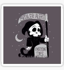 Cute cartoon grim reaper with scythe Sticker