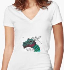 george the dragon Women's Fitted V-Neck T-Shirt