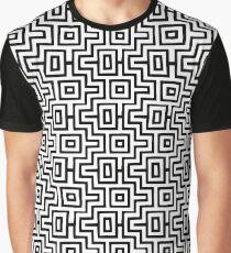 Black & White Choctaw Puzzle Graphic T-Shirt