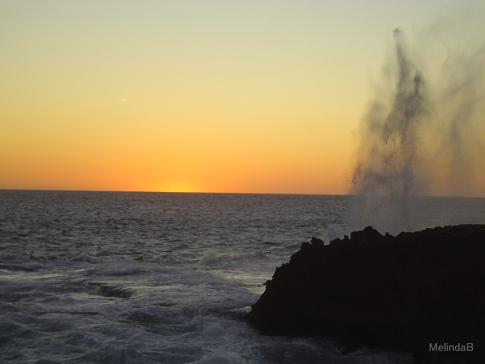 Canarvon Blowholes at Sunset by MelindaB