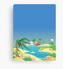 The Coconut Island Canvas Print
