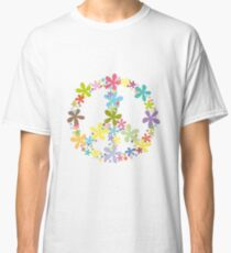 Peace Love Flowers Classic T-Shirt
