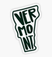 Vermont - Green Transparent Sticker