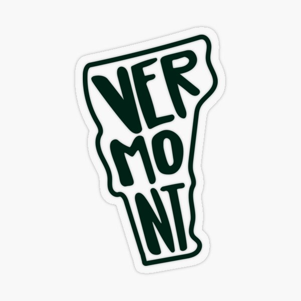 Vermont - Green Transparent Sticker