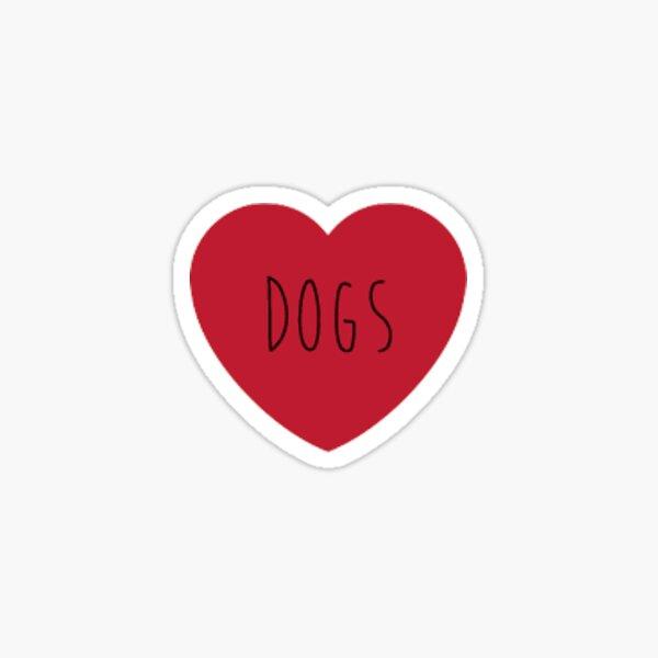 dog heart two Sticker