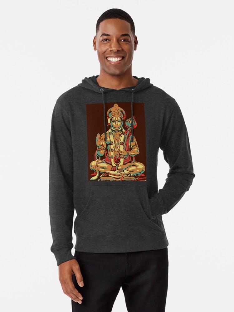 'Baba Hanuman ' Lightweight Hoodie by YogiDevaDas