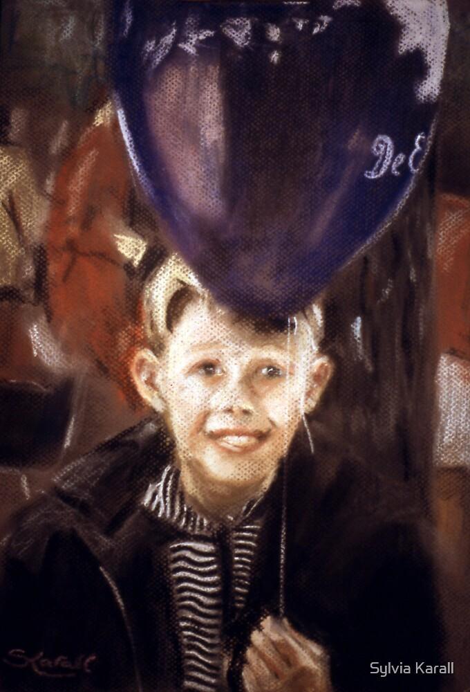 Boy with Balloon by Sylvia Karall