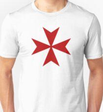 Maltese cross - Knights Templar - Holy Grail -  The Crusades Unisex T-Shirt