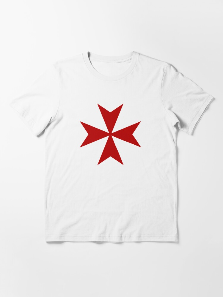 Alternate view of Maltese cross - Knights Templar - Holy Grail -  The Crusades Essential T-Shirt
