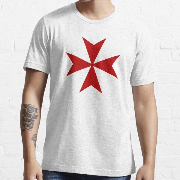 Maltese cross - Knights Templar - Holy Grail -  The Crusades Essential T-Shirt