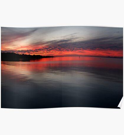 Sunset, Corio Bay Portarlington Poster