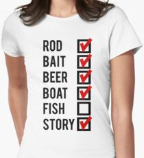 Fishing Check Off List Mens Women's Fitted T-Shirt
