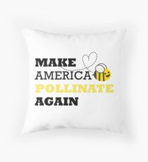 Make America Pollinate Again Throw Pillow