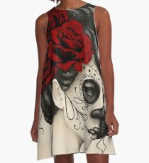 Dia de los Muertos A-Line Dress