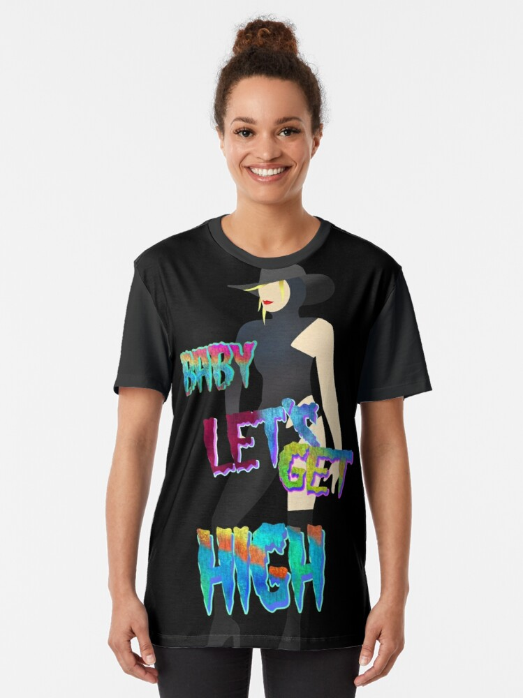 Alternate view of GET HIGH Graphic T-Shirt