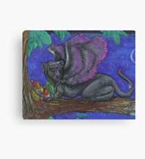 Winged Panther Canvas Print