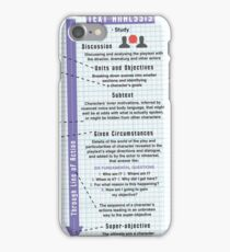Stanislavsky's System Infographic iPhone Case/Skin