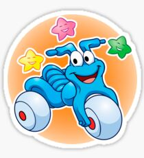 Cute tricycle cartoon and stars Sticker
