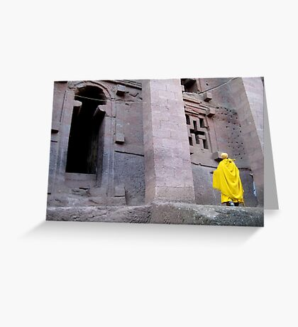 Golden Nun Greeting Card