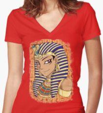 Pharaoh Atem Yu-Gi-Oh! Women's Fitted V-Neck T-Shirt