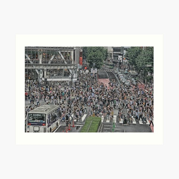 Shibuya Shuffle Art Print