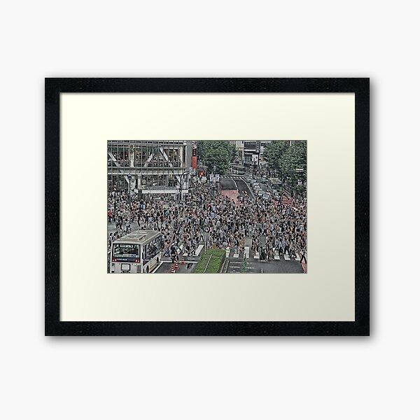 Shibuya Shuffle Framed Art Print