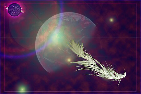 feather in space by shall
