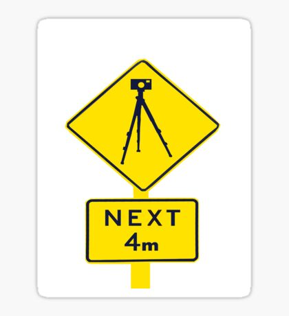 Tripod Ahead Sticker